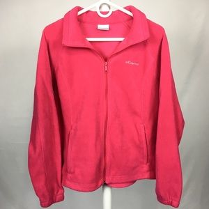 50% Off COLUMBIA / Sherpa Zip Up Hot Pink